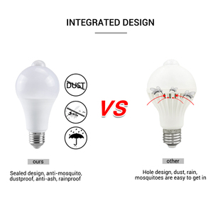 Image 2 - 12 واط 18 واط PIR مصباح إضاءة LED مزوّد بحسّاسات الحركة E27 B22 أمبولة LED مصباح ذكي السيارات قبالة/على IP42 ليلة مصباح داخلي في الهواء الطلق الأمن