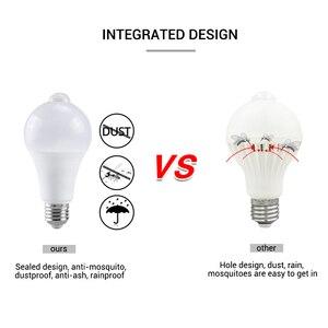Image 2 - 12 w 18 w pir sensor de movimento lâmpada led e27 b22 ampola led inteligente lâmpada auto fora/em ip42 noite lâmpada interior ao ar livre segurança