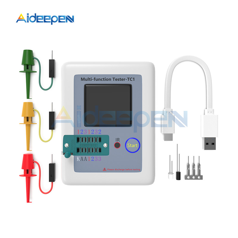 LCR-TC1 LCR TC1 Colorful Display Multifunctional TFT Backlight Transistor Tester For Diode Triode Capacitor Resistor