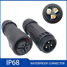 Waterproof Electrical Cable Connector IP68 M19 Screw Locking Plug Socket Connectors 2 3 4 5 6 7 8 9 10 Pins 7-10.5mm Cable