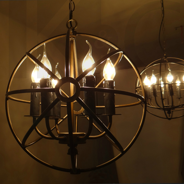 Kc american lighting industry wrought iron chandelier rural kc american lighting industry wrought iron chandelier rural countryside retro circular cages bar mozeypictures Image collections