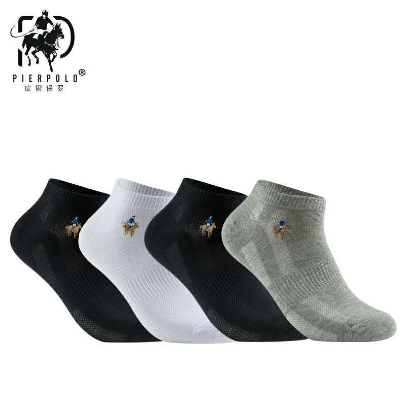 PIERPOLO   Socks   New Fashion Brand   Socks   Men Casual Cotton Men's   Socks   calcetines Business Embroidery Summer   Socks   Meias