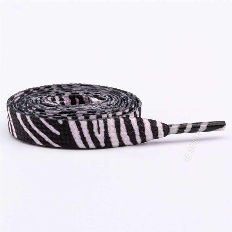 De moda cordón impreso decoración colorido patrón cordones de zapato plano cordones Inglaterra zapatos de encaje cuerdas elástico cordones de los zapatos