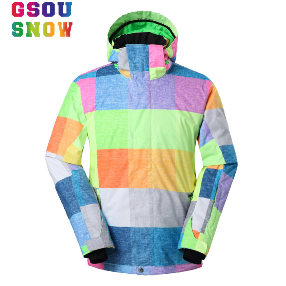 Gsou Snow Ski Jacket Men Winter Hooded Sport Jacket Waterproof Snowboard Jacket Outdoor Skiing Snowboarding Waterproof Men Coat gsou snow brand ski suit women ski jacket pants waterproof snowboard jacket pants winter outdoor skiing snowboarding sport coat
