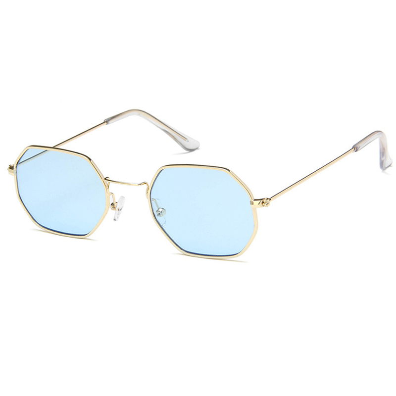 Women Sunglasses Spectacles Oculos feminino Lentes de sol mujer Vintage Small Square Polygon Frame Clear Sea Lens Gafas UV400 K8 in Women 39 s Sunglasses from Apparel Accessories
