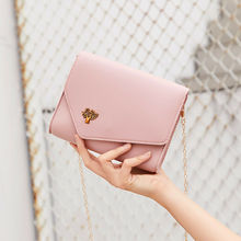 купить New 2019 Mini Small Women Fashion Summer Bag Chain Simple Shoulder Messenger Bags Candy Color Crossbody Totes PU Leather Handbag дешево