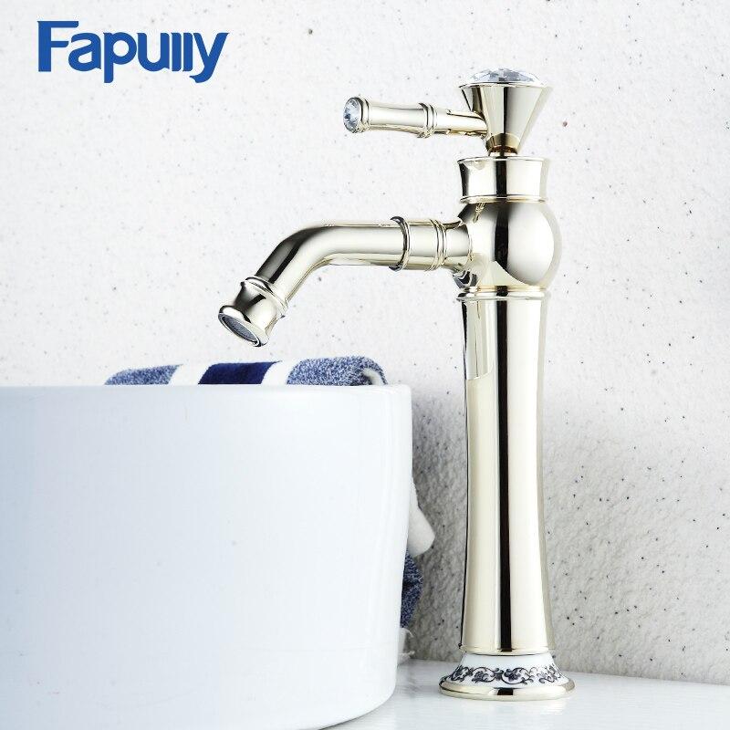 Fapully salle de bain bassin or robinet en laiton avec diamant cristal mitigeur de bassin mitigeurFapully salle de bain bassin or robinet en laiton avec diamant cristal mitigeur de bassin mitigeur