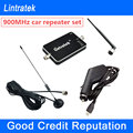 NEW Lintratek Car GSM Signal Booster 900MHz Mini Signal Repeater Car Charger Full Set GSM 900 Cell Phone Signal Booster For Car