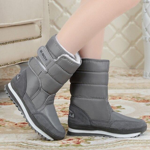 Mujeres botas 2016 de la nieve de colores de moda de nueva llegadas para Mujer Caliente botas de invierno