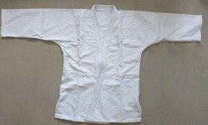Image 2 - 100% cotton jujitsu training suits International standard judo clothing uniforms Adult&children kung fu aikido clothes white