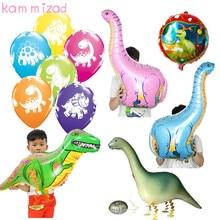 KAMMIZAD Walking Balloons Wild Dinosaur Jurassic Period Ancient Tyrannosaurus Children Balloon Jungle Party Globos Supplies