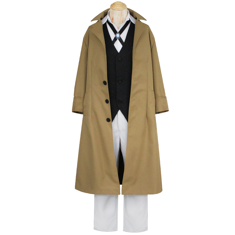Bungo Stray Dogs Osamu Dazai Cosplay Costumes Full Set Detective Uniform suit for Halloween T170145