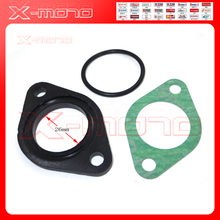 25mm 26mm Carb Carburetor Manifold Intake Pipe Gasket Spacer Seal for Pit Dirt Bike 110 125 cc CRF50 XR50 Pit Dirt Bike ATV Quad