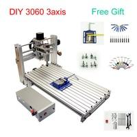DIY CNC 3060 metal Engraving machine 3axis CNC Router Engraving Drilling Milling Machine 600*300mm working size   -