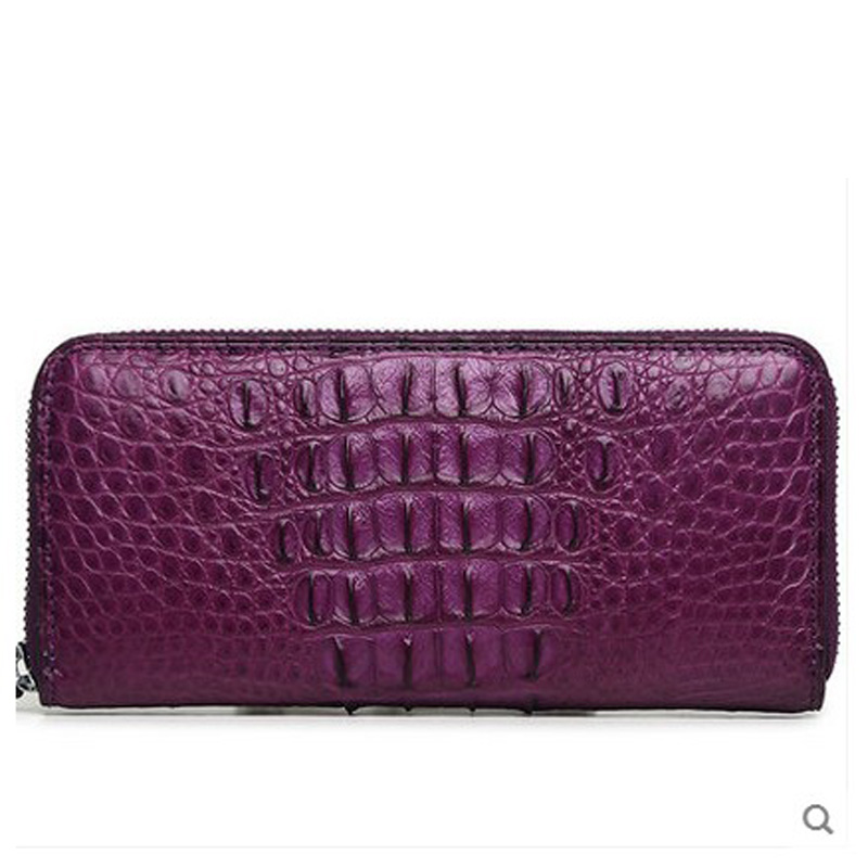 VV Lady wallet crocodile leather women clutch bag female luxury new purse girl long money new head layer cowhide purse female butterfly skin carving bag long wallet retro handbag leather lady purse