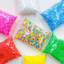 Assorted Colors Polystyrene Styrofoam Filler Foam 2~4mm Mini Beads Balls Crafts Home Party Wedding Decoration Free Shipping(China)