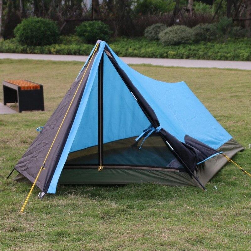 Alltel echtem einzigen schicht licht gewicht outdoor camping aluminium pole einzelne person zelt einfach tragen UV plaid wasserdichte zelt