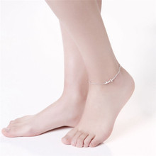 FREE SHIPPING Key Heart Bracelet Ankle Women Trendy Summer Romantic Silver Anklets Fashion Women Gift Femme