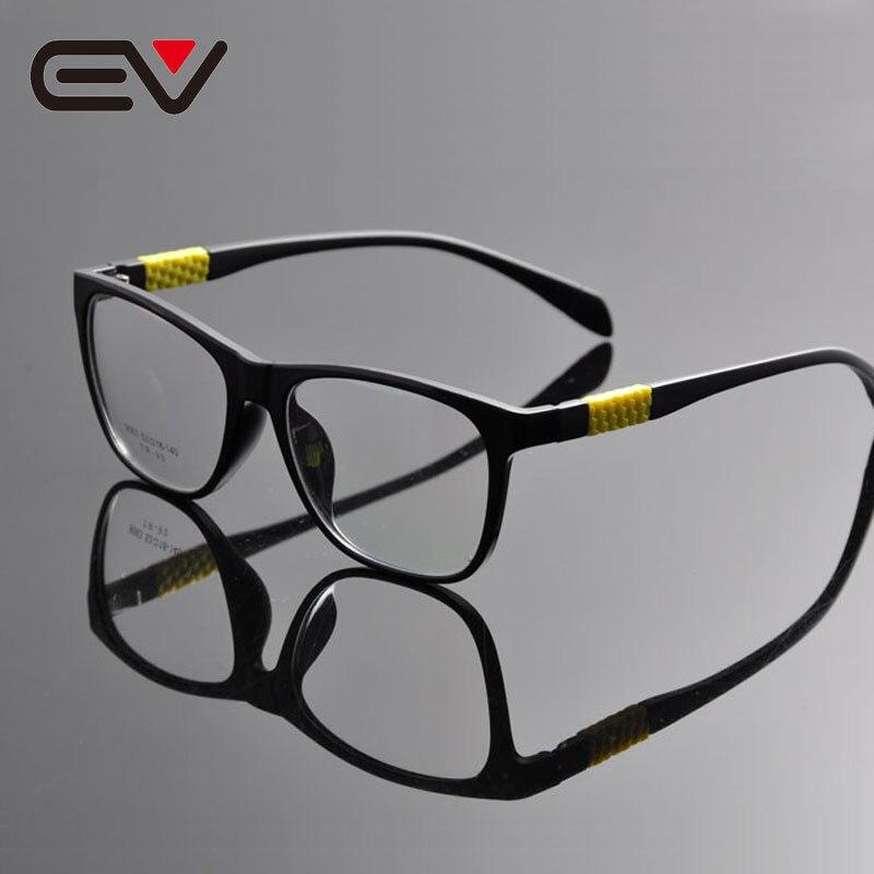 b444c0c9e 2016 Nova Moda Unissex Homens Mulheres Ultra Leve Aro Completo Durable  Praça Lente Clara Vidros do Olho Óptico óculos Quadro 3 cores EV1328