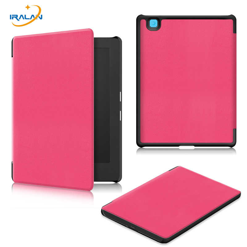 Hot Ultra thin E-book Case for kobo aura H2O Edition 2 6.8 inch Smart Magnetic PU Leather cover+Screen Protector film+Stylus pen
