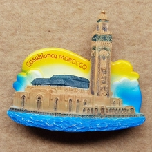Moroccan Grand Mosque Travel resin refrigerator stickers