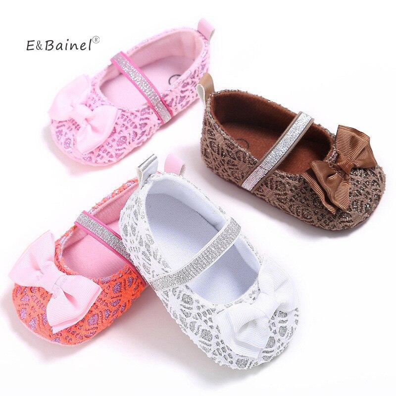 E & Bainel/Обувь для маленьких девочек; Обувь для малышей с бантом; Обувь для малышей