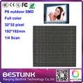 P6 открытый полноцветный светодиодный дисплей экран с разрешением 32*32 пикселей 4S 192*192 мм SMD P6 открытый led moduleled панели rgb led программируемый