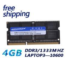 Fabrikpreis Freie verschiffen LAPTOP DDR3 SODIMM LAPTOP 4G 4 GB 1333 MHZ CL9 13S9S8/4G