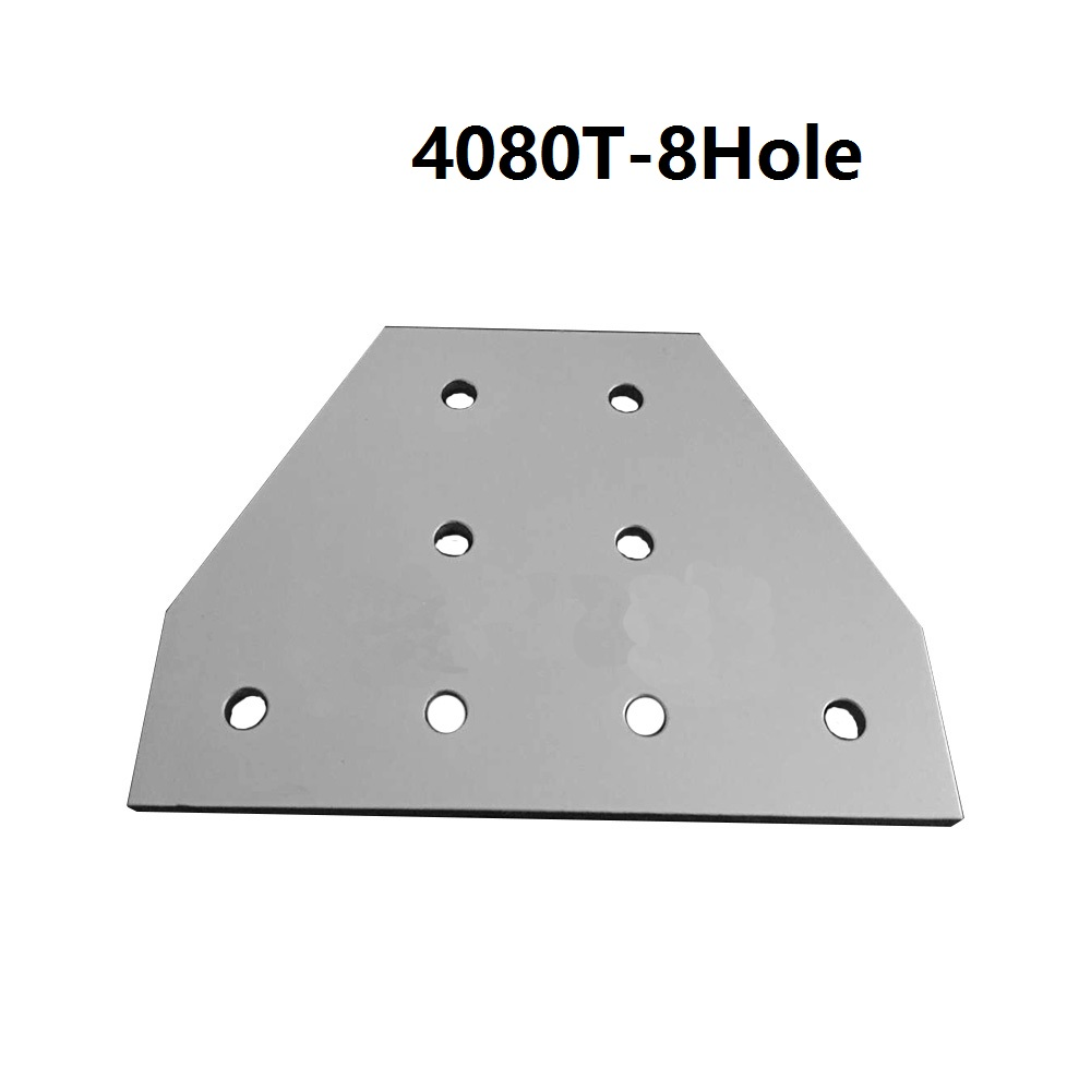 1pcs 4080 40x80 with 8 hole T type 90 Degree Joint Board Plate Corner Angle Bracket Connection Joint for Aluminum Profile цена