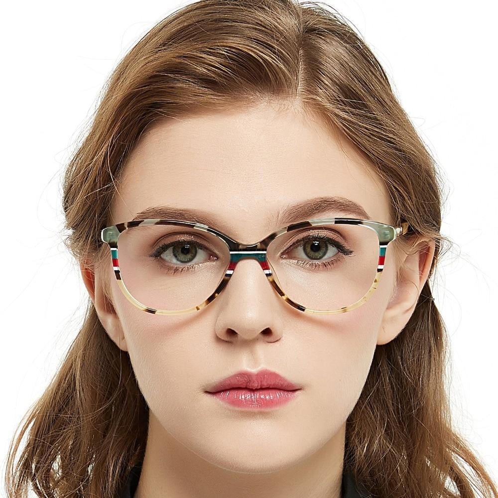 8e2bbef3e6 OCCI CHIARI Italy Design Spring Hinges Prescription Lens Medical Optical  Eyeglass Woman Frame Stripes Colorful Navy Red W-CORRU