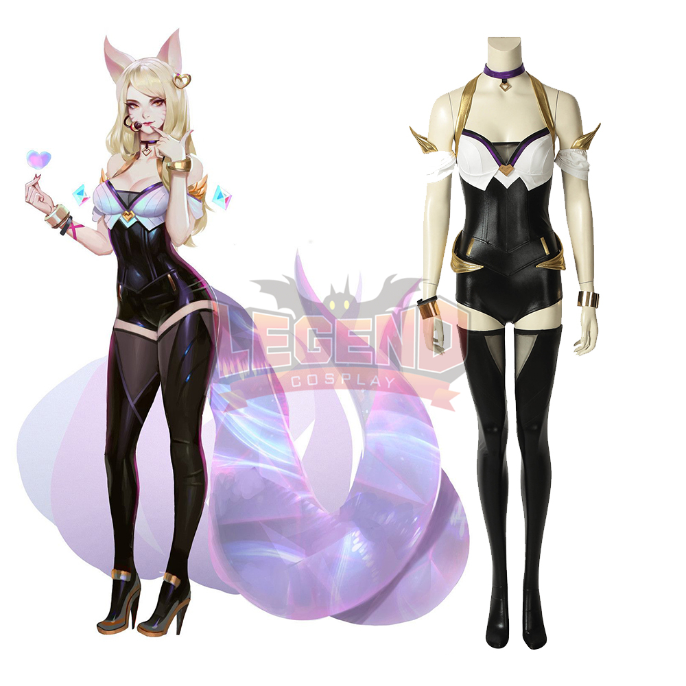 Cosplaylegend Game lol KDA Ahri Cosplay adult costume all size custom made outfit without shoes