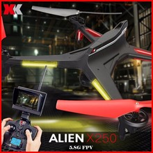 цены WLtoys XK X250 WIFI FPV Drone With 2MP Camera 4CH 6 Axis RC Quadcopter RTF Compatible With Futaba S-FHSS Christmas Kid Gifts