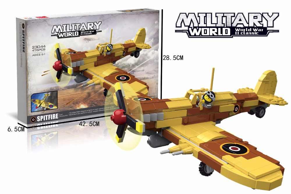Мировой войны немецкая армия воздушных сил строительный блок ww2 Америка летать тигра цифры spitfire P-40 AR196 истребитель модельные игрушки, коллекционные