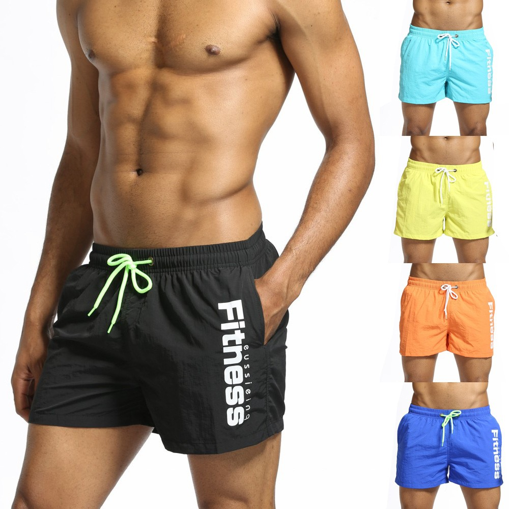 Briefs Swimwear Boxer-Shorts Beachwear Trunks Bathing-Suit Male Men Quick-Dry title=