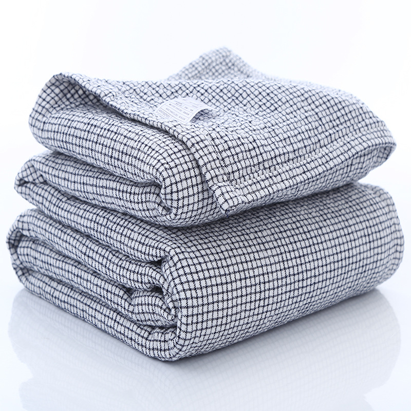 Kids Blanket Adults Muslin Cotton 4 Layers Cover Blanket Children Soft Plaid Thick Autumn Receiving Bedding