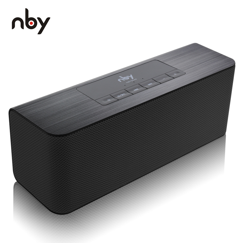 NBY 5540 Bluetooth Speaker Portable Wireless Speaker High-definition Dual Speakers with Mic TF Card Loudspeakers MP3 Player chimole a910 high quality high power 300w 9 inch high definition display dvd player portable square speakers
