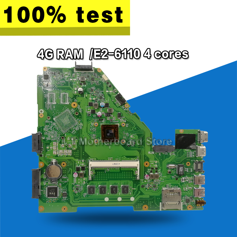 X550WA  Laptop motherboard  for ASUS X550WA X550WAK X550W X550WE X552E X550EP X550EA Test mainboard 4G RAM  /E2-6110 4 coresX550WA  Laptop motherboard  for ASUS X550WA X550WAK X550W X550WE X552E X550EP X550EA Test mainboard 4G RAM  /E2-6110 4 cores