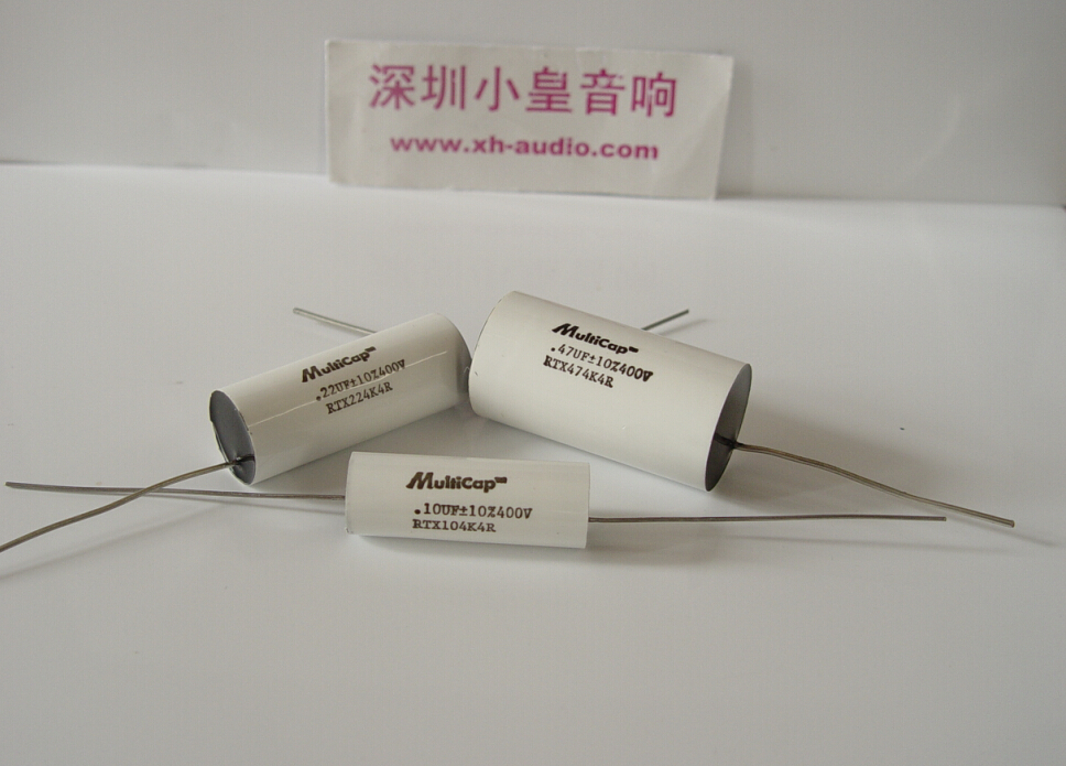 1lot 2pcs American original MultiCap MIT RTX series 0 01UF 3UF audio Polystyrene Film Tin Foil Axial capacitance free shipping in Capacitors from Electronic Components Supplies