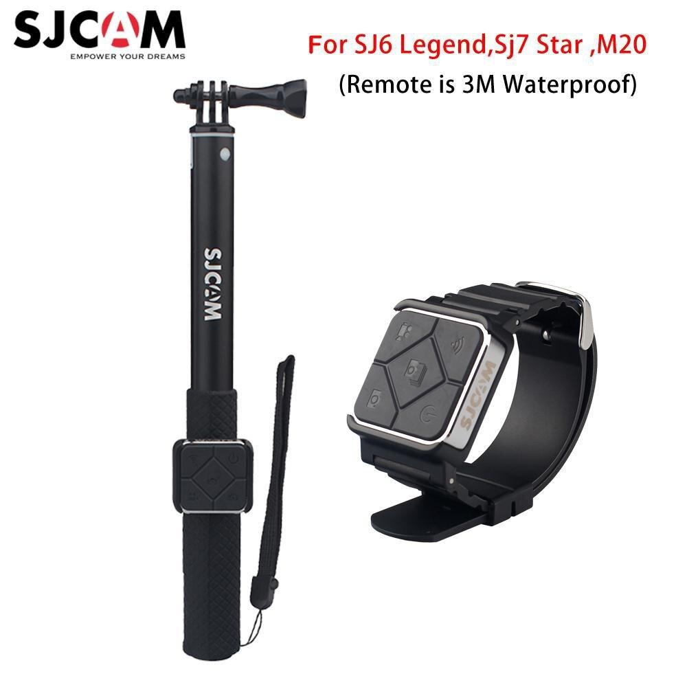 Newest Brand Sjcam Remote Control Watch Monopod Black And Silver For Sjcam M20 Sport Action Camera