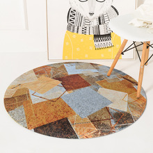Nordic INS Coffee geometric round carpet home bedroom bedside entrance elevator floor mat sofa coffee table anti slip carpet fashion round carpet bedroom ins bedroom living room coffee table mat bedside carpet anti slip mat strong absorbent carpet