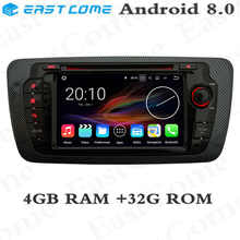 Octa Core 4GB RAM Android 8.0 Car DVD Player Radio For Seat Ibiza 2009 2010 2011 2012 2013 Car Radio Stereo GPS Navigation