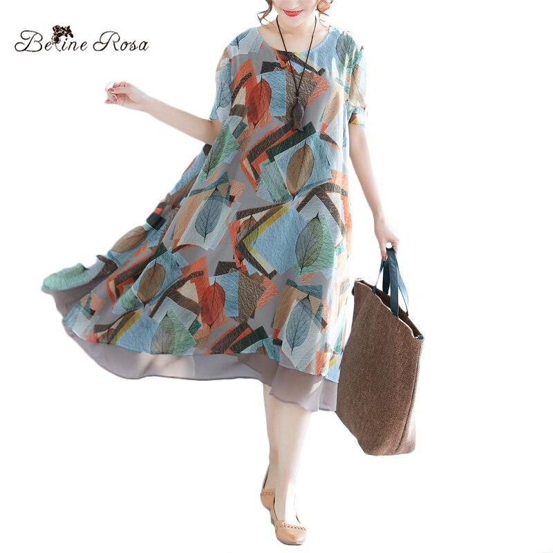 Tamaño 2018 Mujer El Vestido Vestidos Belinerosa Gasa Para Xmr00062 Mujeres De Las Ropa Plus Verano pUnwnx8
