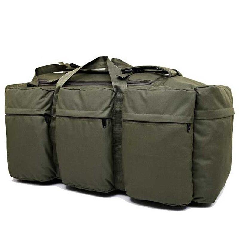 Mochila táctica militar de gran capacidad de 90 L para hombre impermeable Oxford senderismo Camping mochilas resistente al desgaste bolsa de viaje - 5