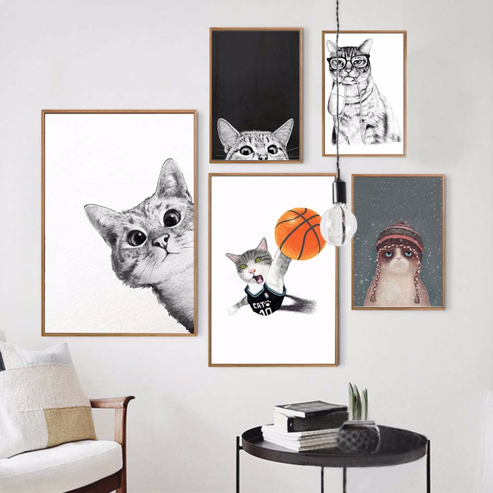Poster Cat Kitten Cute Pets Animals Room Art Wall Cloth Print 16