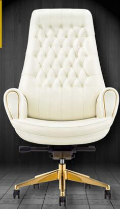 White leather boss chair. Computer chair swivel office ergonomic .69 free shipping computer chair net cloth chair swivel chair home office