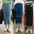 Boyfriend Jeans for Women 2016 New Fashion Knee Tear Style Women Jeans Loose Holes Denim Harem Pants Ripped Jeans Woman