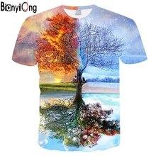 2018 harajuku men t shirt New Arrivals Men/Women 3d T-shirt Print Forest Trees Quick Dry Summer Tops Tees hip hop Brand Tshirts