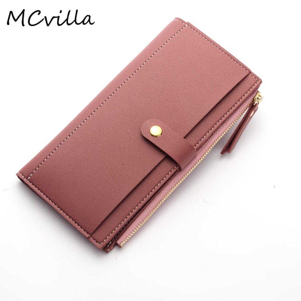 New Women Wallets Fashion Leather Female Purse Women Clutch Casual Wallets Money Bag Ladies Card Holder Brand Mcvila