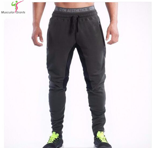 2015 New Men Pants SportsRunning Sweatpants SoccerPrinting Casual Trouser Jogger Bodybuilding Fitness Sweat Pants