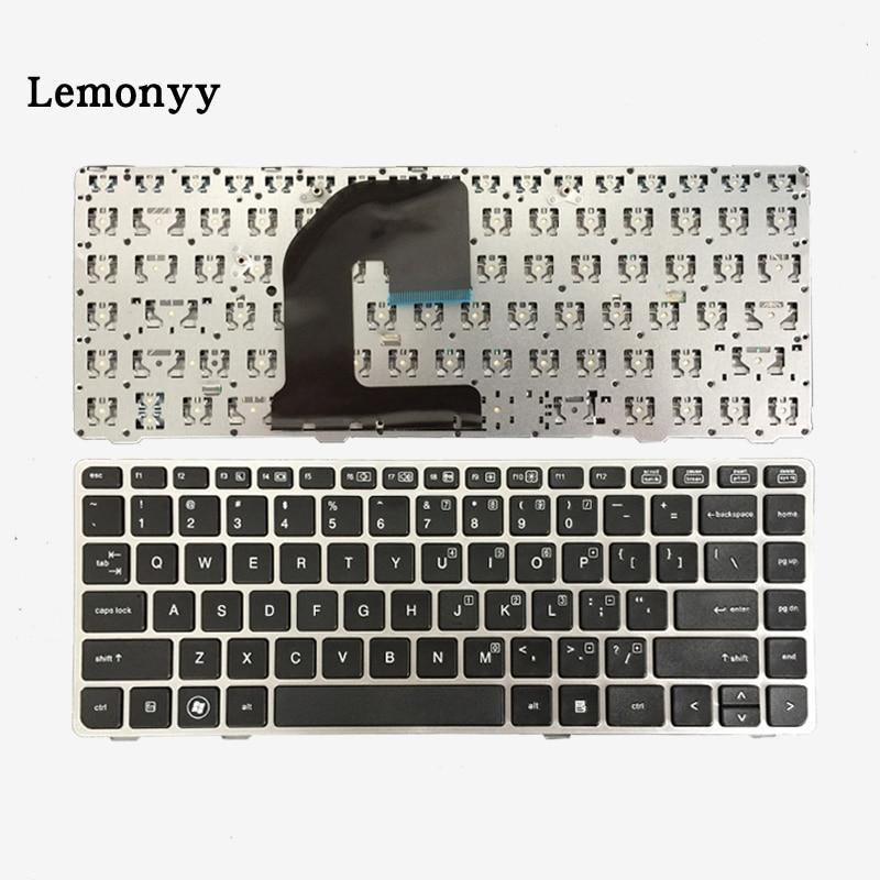 New US Keyboard For HP EliteBook 8470B 8470P 8470 8460 8460p 8460w ProBook 6460 6460b 6470 Keyboard with silver frame ssea us keyboard new for hp elitebook 8410p 8460p 8460w 8470p 8470w probook 6460b 6465b 6470b 6475b without frame